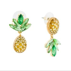 NEW Betsey Johnson Mismatched Pineapple Earrings